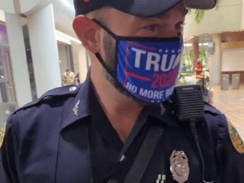 Police officer to be probed after wearing 'Trump 2020' mask to polling station