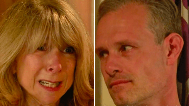 Gail and nick in Coronation street
