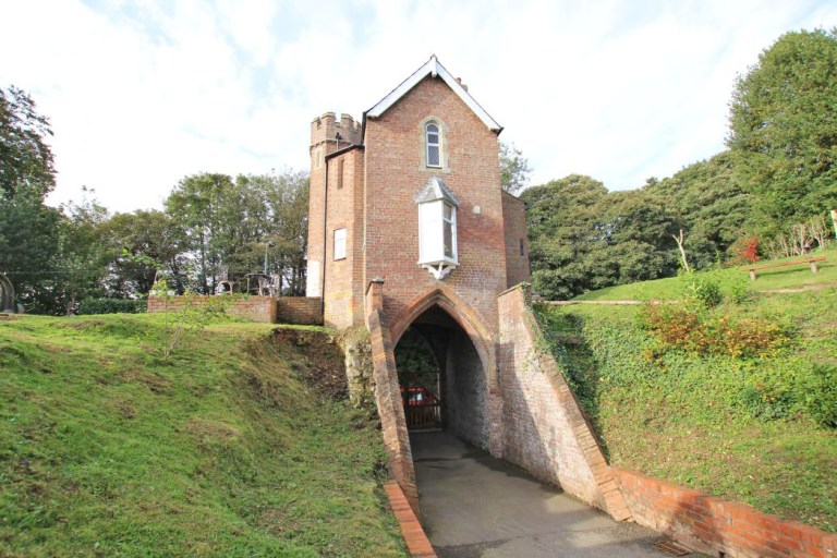 gatehouse with its own turret for sale