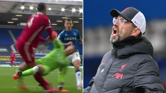 Liverpool boss Jurgen Klopp unhappy with Jordan Pickford tackle on Virgil van Dijk and questions VAR