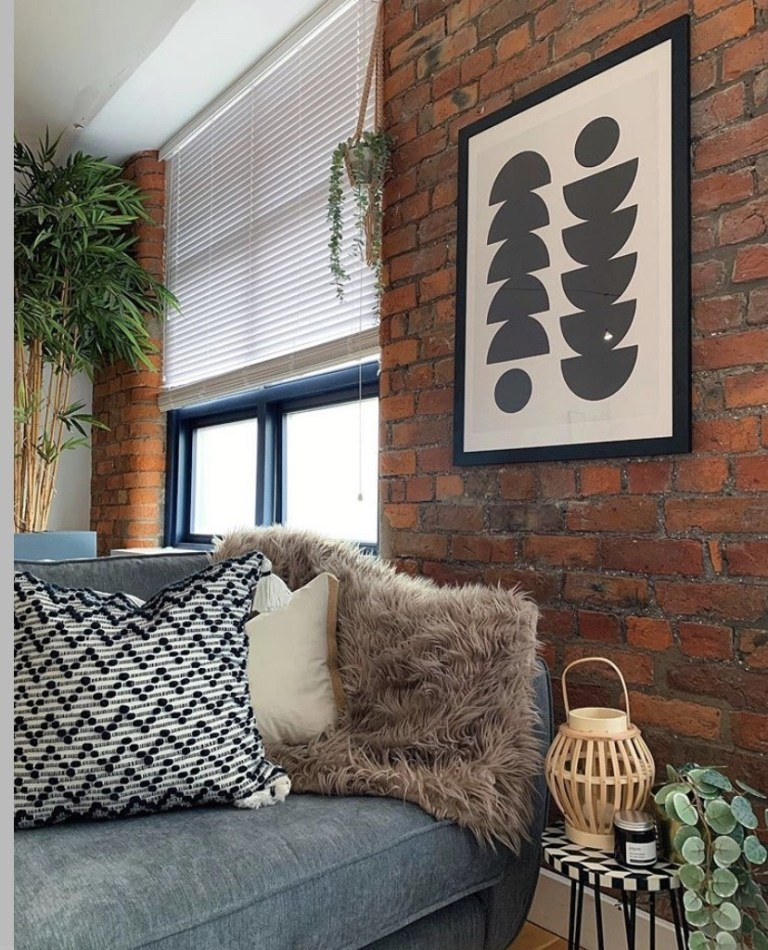 what i rent: Cara and Nat, new islington, manchester - sofa in the living room