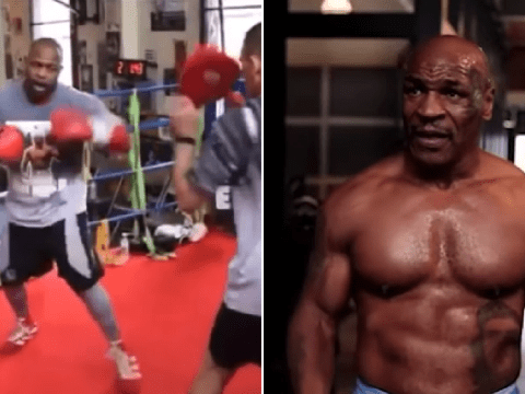 Mike Tyson looks in superb shape as Roy Jones Jr. shows off scary speed one month out from fight