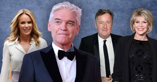Phillip Schofield, Amanda Holden, Piers Morgan, and Ruth Langsford