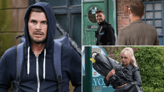 Ste, George, John Paul and Theresa in Hollyoaks