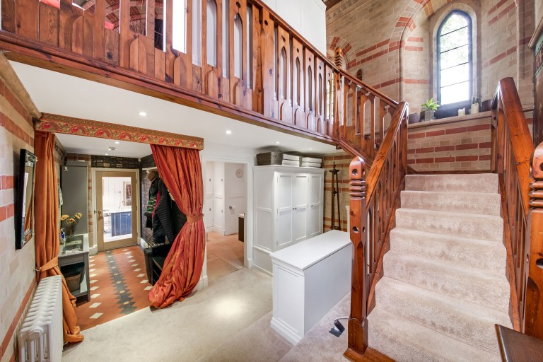the ground floor of the converted victorian home
