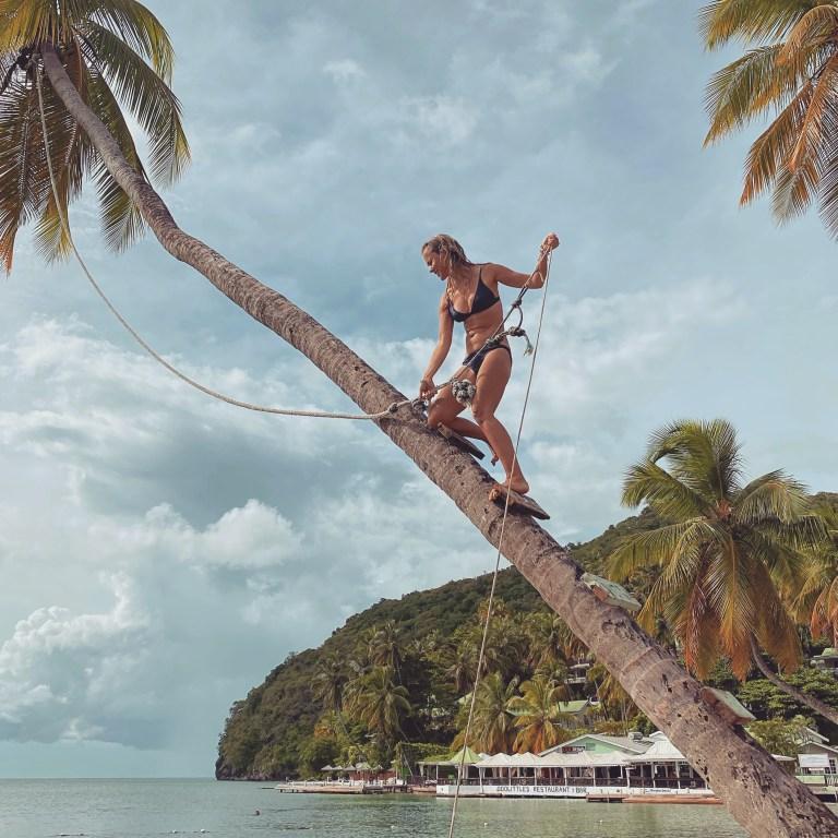 The Marigot Bay Resort is next to a popular beach-side rope swing (Picture: Sadie Whitelocks)