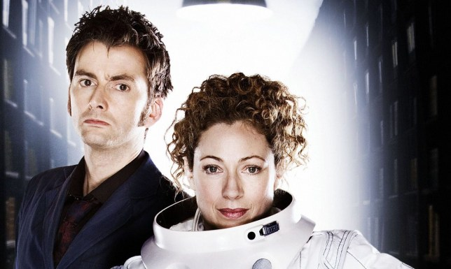 David Tennant as the Tenth Doctor and Alex Kingston as River Song in Doctor Who