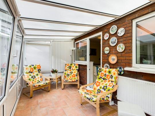 sitting area in three-bedroom detached house in Swansea