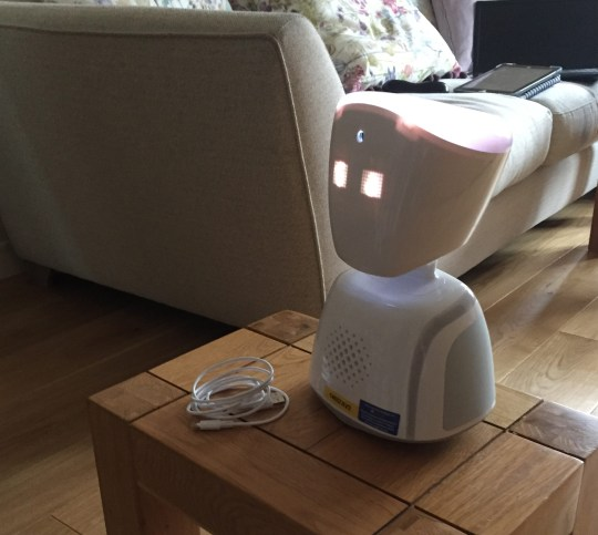 David the robot, which Seren uses to communicate from her hospital bed