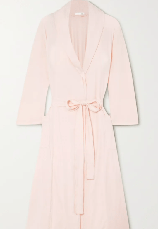 Carina belted Pima cotton-jersey robe