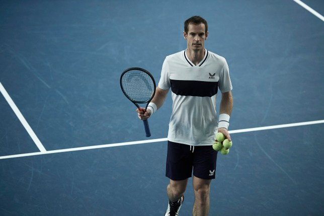 Andy Murray looks on during a photoshoot ahead of discussing vaccines, the Australian Open and Mats Wilander's wildcard attack