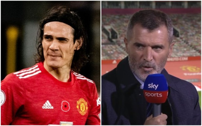 Roy Keane was unhappy with Edinson Cavani's lack of effort in Manchester United's defeat to Arsenal