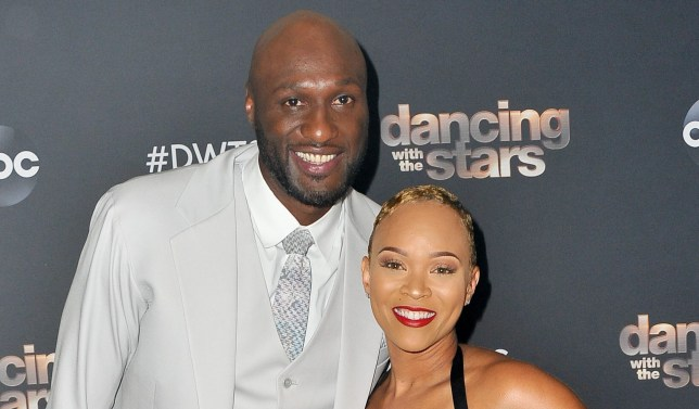 Lamar Odom and Sabrina Parr on red carpet