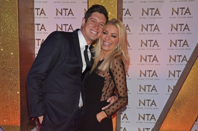 Vernon Kay and Tess Daly attend the National Television Awards 2020.