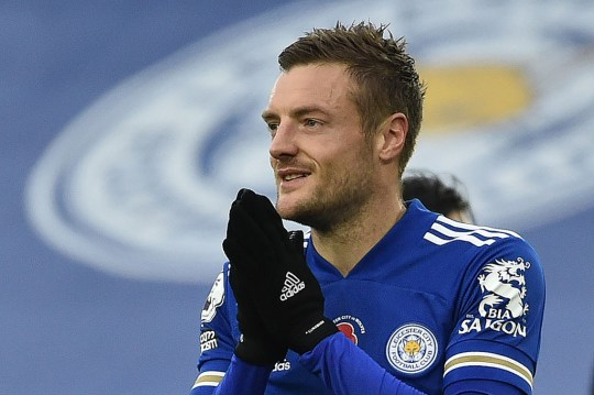 Jamie Vardy will fancy his chances against a makeshift Liverpool defence