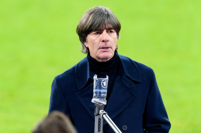 Joachim Low looks on after German's clash with Ukraine