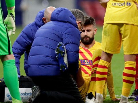 Barcelona provide update after Gerard Pique's knee injury in Atletico Madrid defeat