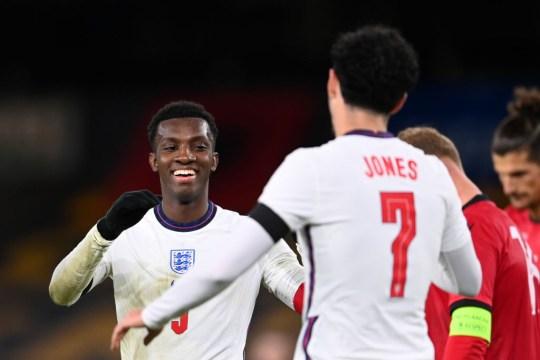 Nketiah scored twice as England thumped Albania on Tuesday