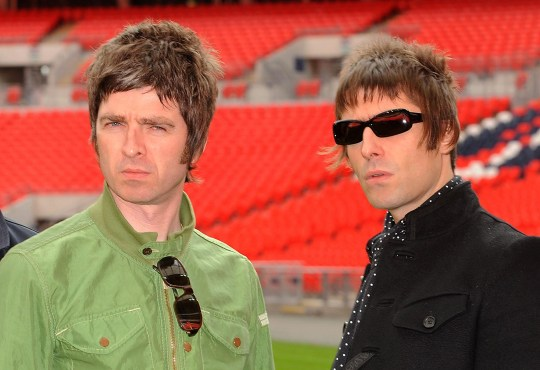 Noel Gallagher and Liam Gallagher Oasis