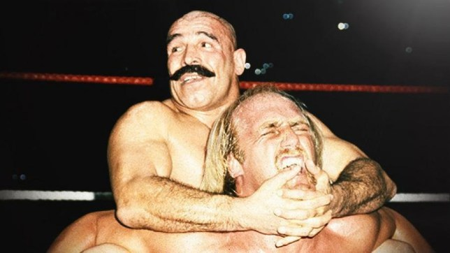 WWE legends The Iron Sheik and Hulk Hogan