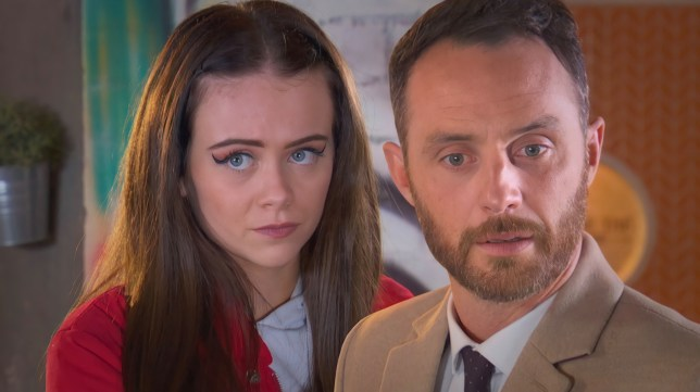 Juliet and James in Hollyoaks