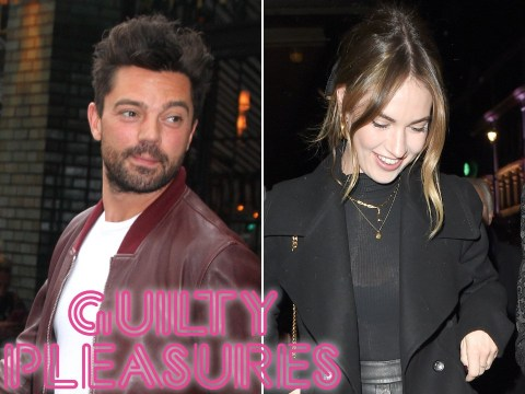 Lily James heads on pre-lockdown night out with Dominic Cooper