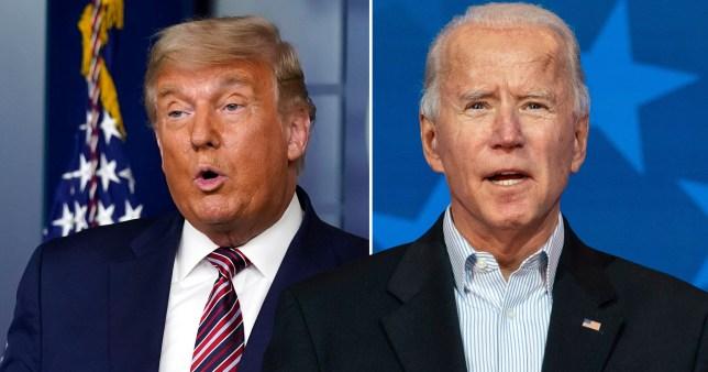 Composite image Donald Trump Joe Biden