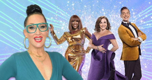 Michelle Visage and Strictly Come Dancing judges Motsi Mabuse, Shirley Ballas and Craig Revel Horwood