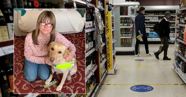 A blind woman says she's scared to go shopping after being pushed