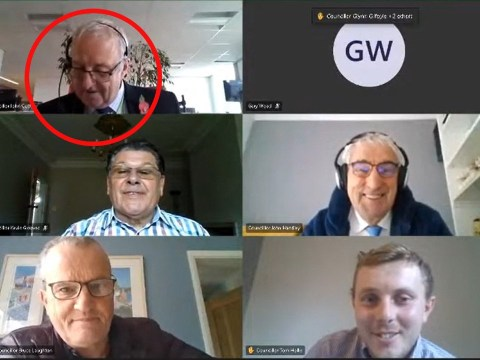 Touching moment councillor finds out he's a grandad for first time on Zoom