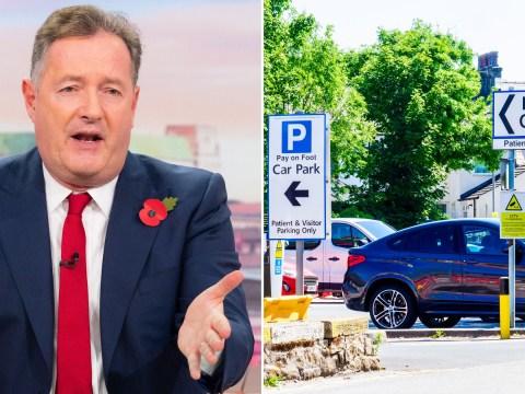 Piers Morgan slams price hike for NHS parking saying it 'makes me puke'