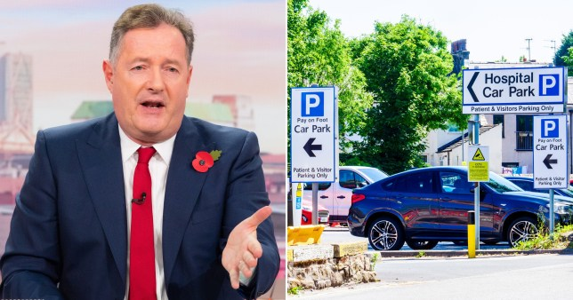 Piers Morgan attacks plans for NHS parking charges saying it \'makes him want to puke\'