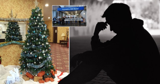 An asylum seeker is preparing to spend second Christmas in a Britannia hotel where decorations have been put in the lobby (Picture: Josh Layton/stock image)