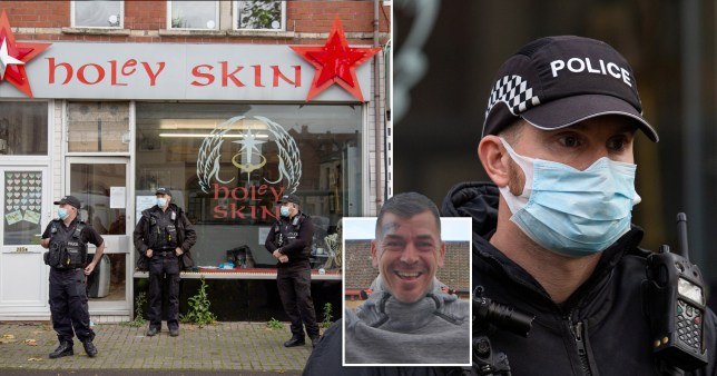 Police force their way into Holey Skin tattoo studio in Bristol and owner Aron Walton