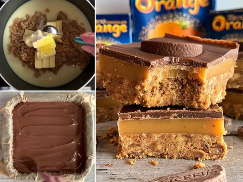 Baker shares easy recipe for chocolate orange millionaire's bars