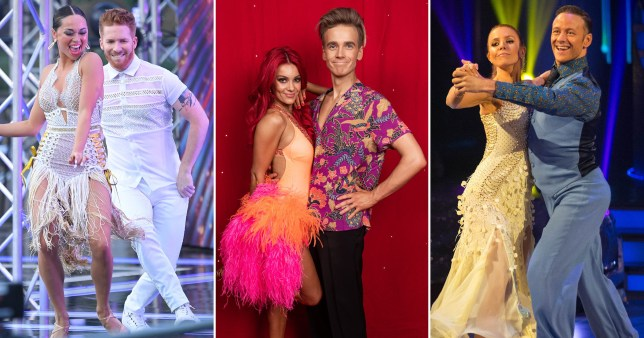 Katya and Neil Jones, Dianne Buswell and Joe Sugg, Stacey Dooley and Kevin Clifton