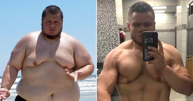 alejandro porro before and after his weight loss
