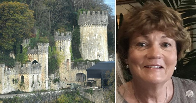 Sharn Iona Hughes, 58,  had travelled to Gwrych Castle, North Wales, to see the I'm a Celeb castle when she was fatally hit.