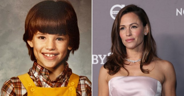 Jennifer Garner in childhood throwback photo and pictured on red carpet
