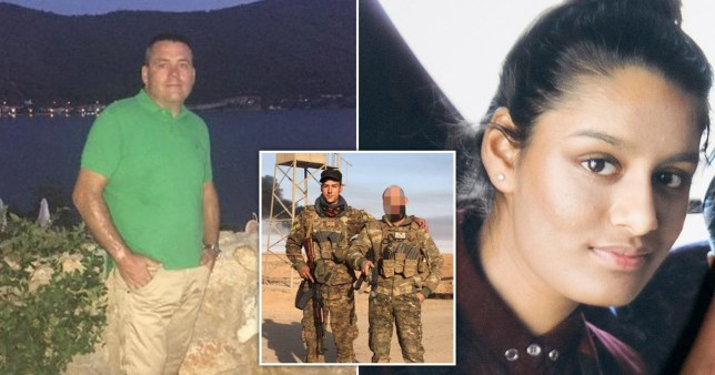 The father of a British man (l) fighting with Kurdish forces on the Syrian border has attacked what he views as the double standards of the Shamima Begum case (Picture: Family image)