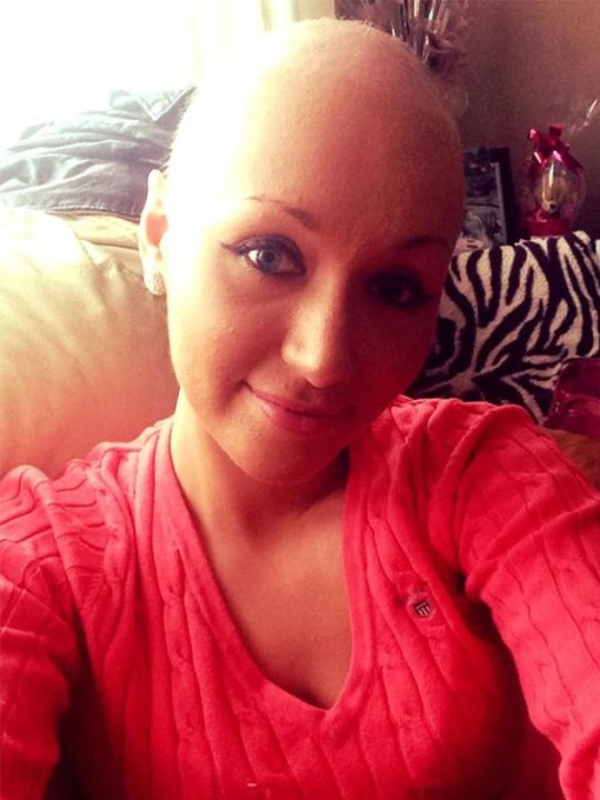 Emma Swain during cancer treatment