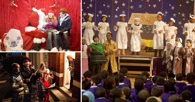 Santa Grottos, nativity plays and carol singing will be allowed to take part under Covid-19 restrictions.