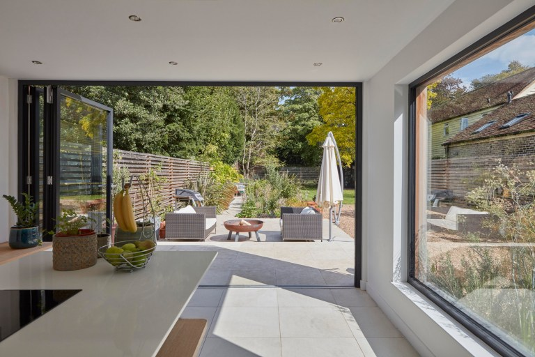 The stunning extension that leads right out into the garden