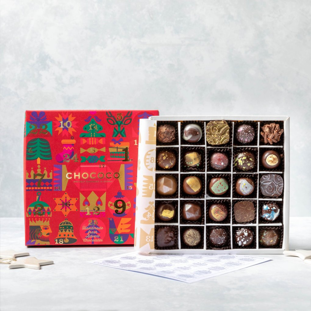 Classic Advent Selection Box, £25, Chococo, chococo.co.uk.