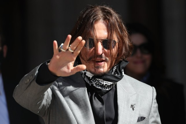Johnny Depp outside court in London