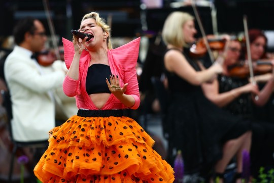 LONDON, ENGLAND - MAY 19: Paloma Faith performs during the Wimbledon No. 1 Court Celebration in support of the Wimbledon Foundation at All England Lawn Tennis and Croquet Club on May 19, 2019 in London, England. (Photo by Dan Istitene/Getty Images)