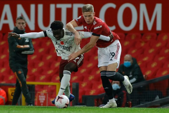 Gary Neville believes Scott McTominay struggled in his midfield role against Arsenal