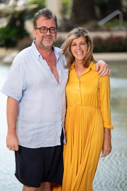 Editorial use only Mandatory Credit: Photo by James Gourley/ITV/REX (10495119k) Derek Draper and Kate Garraway 'I'm a Celebrity... Get Me Out of Here!' TV Show, Kate Garraway at the Versace Hotel, Series 19, Australia - 08 Dec 2019