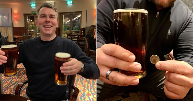 Composite image Wetherspoons pub drinkers