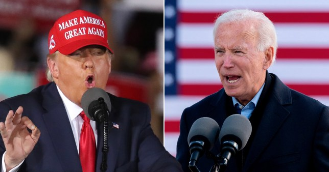 Donald Trump and Joe Biden composite image.